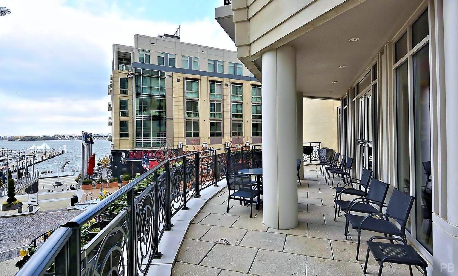 One National Harbor Condo Mezzanine Lounge Balcony