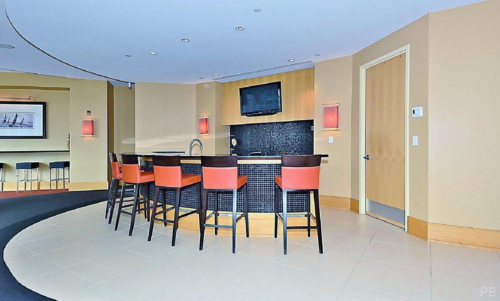 One National Harbor Condo Mezzanine Lounge Bar Area