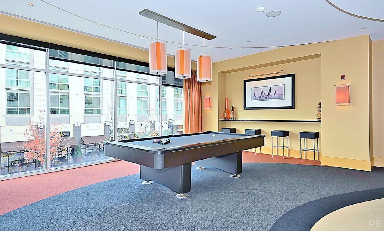 One National Harbor Condo Mezzanine Lounge Pool Table