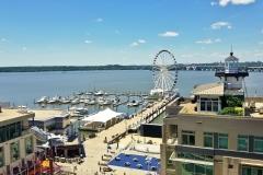 National Harbor Marina and the Woodrow Wilson Bridge