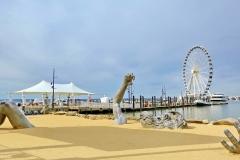 National Harbor The Awakening Buried Giant Sculpture