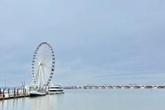 The Capital Wheel at National Harbor and Woodrow Wilson Bridge