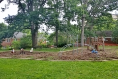A tot lot /playground in Parkfairfax by Lyons Lane